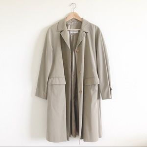 Max Mara Beige Collared Button Up Trench Coat